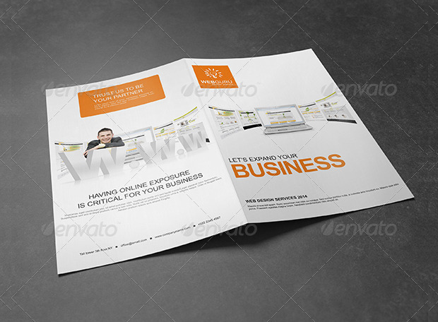 Bi-Fold Website Design Service Brochure