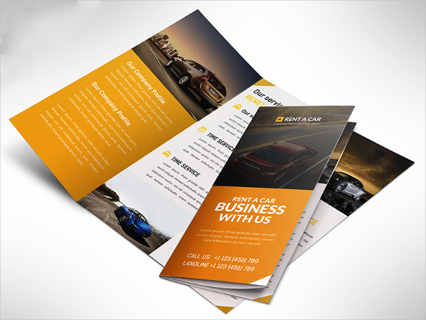 Car Dealer And Services Trifold Brochure PSD