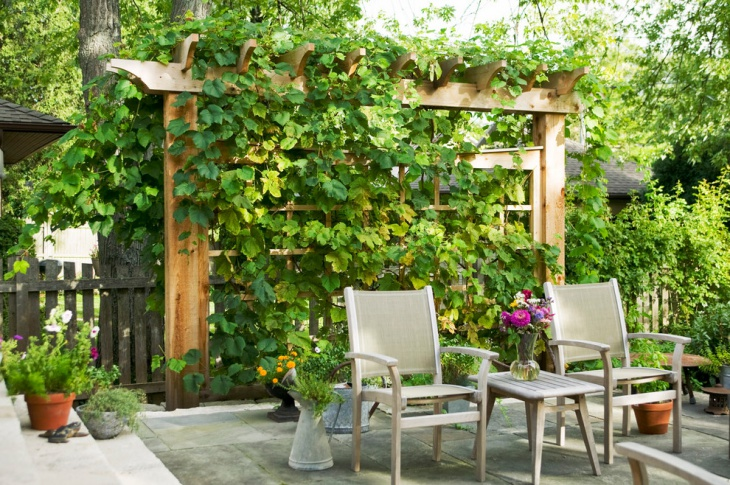 Garden Trellis Furnished Idea