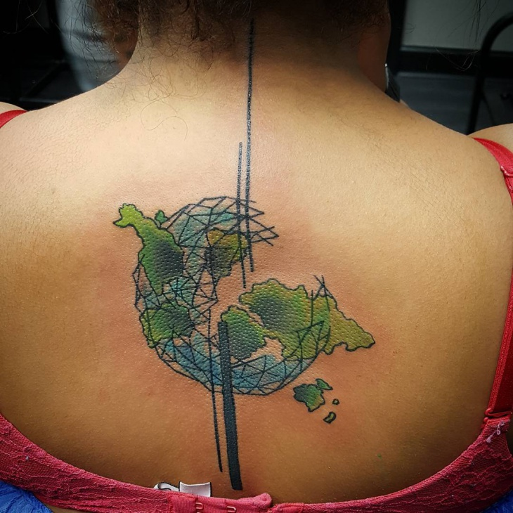 Earth Tattoo for Back