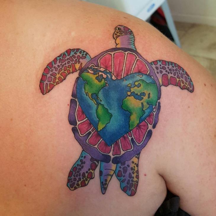 Tortoise Earth Tattoo