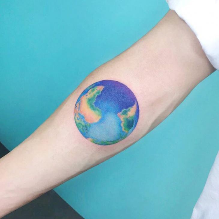 Color Earth Tattoo