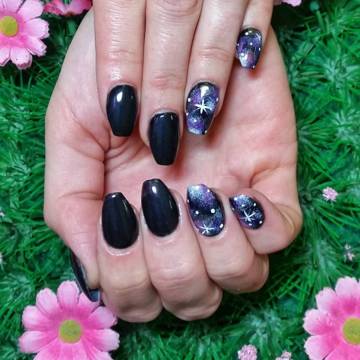 Outstanding Galaxy Gel Nail Vignette - Nail Art Ideas - morihati.com