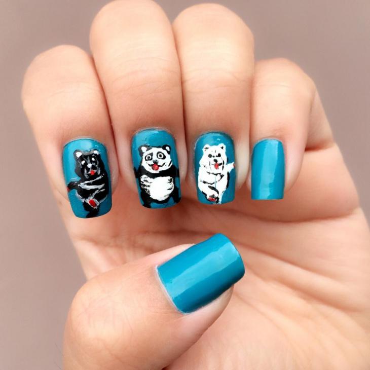 kung fu panda nail art