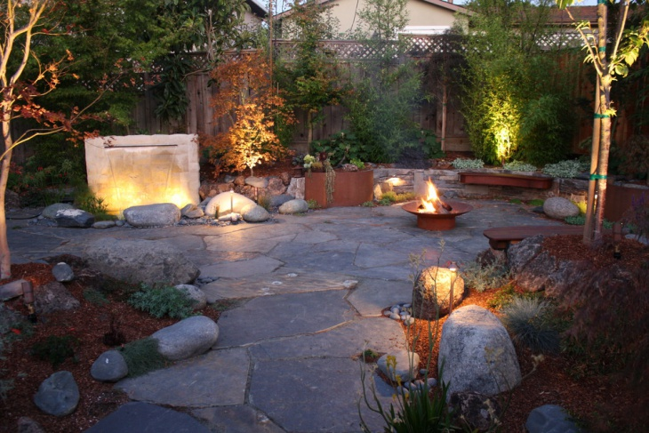 Stone Asian Patio Designs