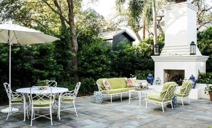 Vintage Asian Outdoor Patio