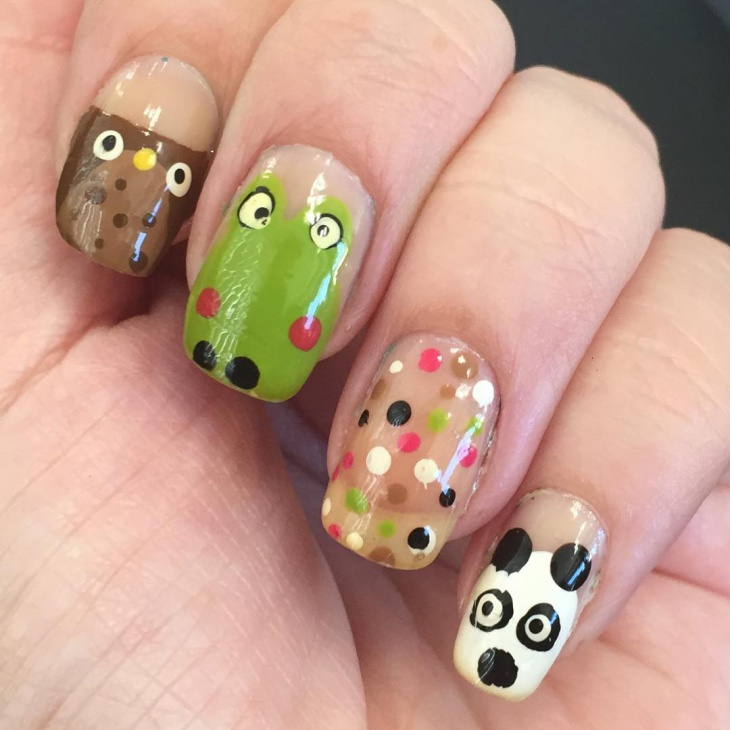 Frog Nail Art: 21+ Panda Nail Art Designs, Ideas