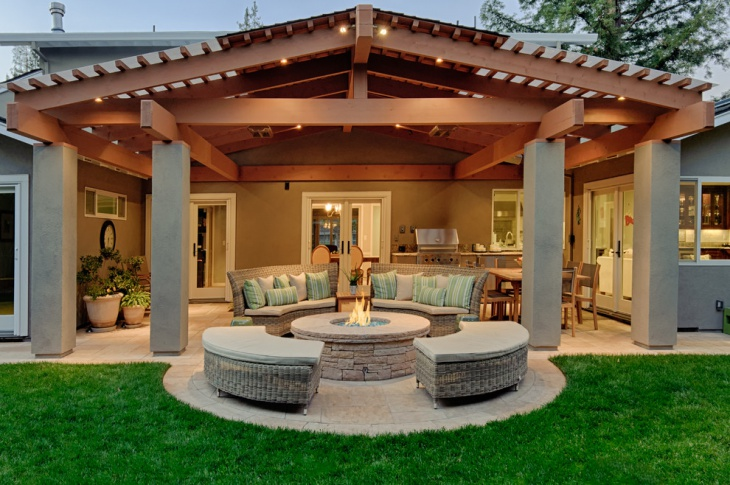 Asian Covered Patio Design