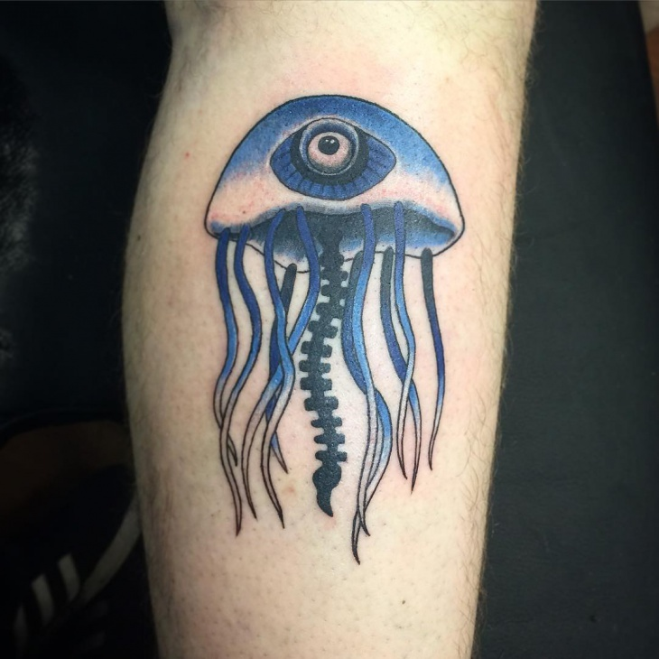 Unique Jellyfish Tattoo Design