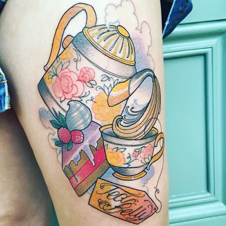 teapot and teacup tattoo