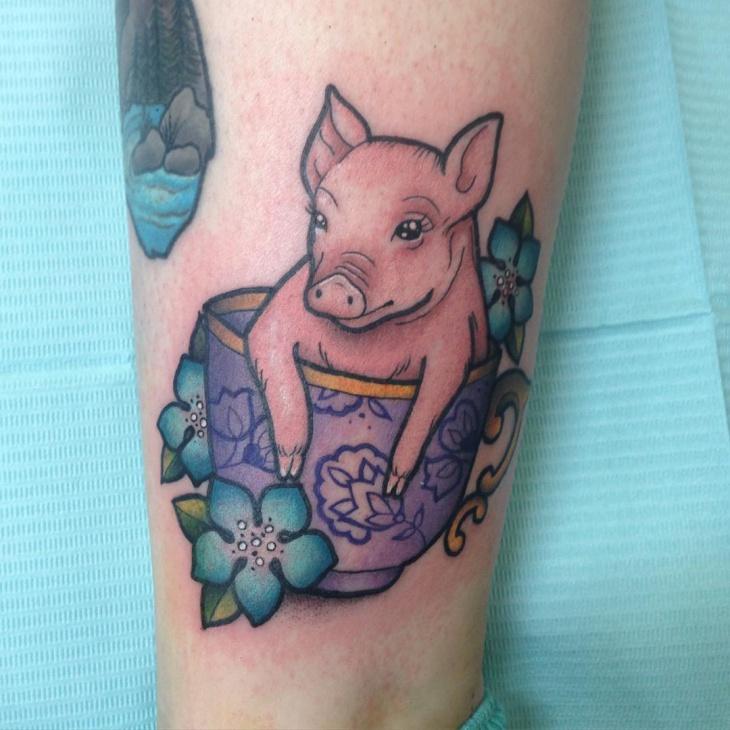 Unique Teacup Tattoo Idea