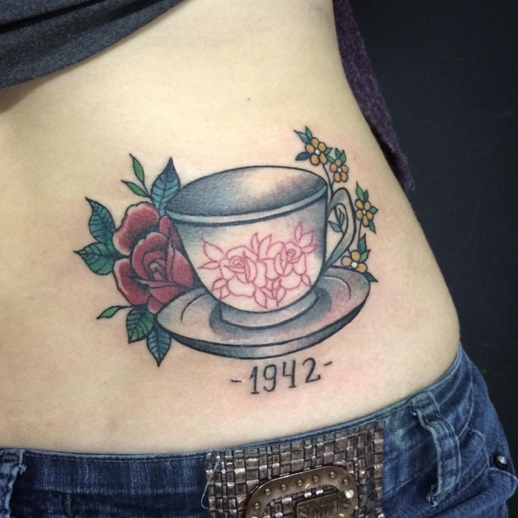 Teacup Tattoo for Women