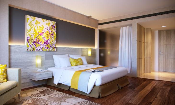 apartment bedroom wooden flooring