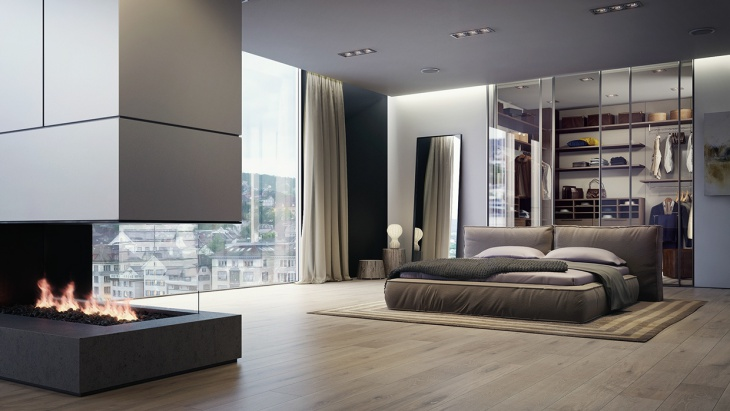 sleek apartment bed design