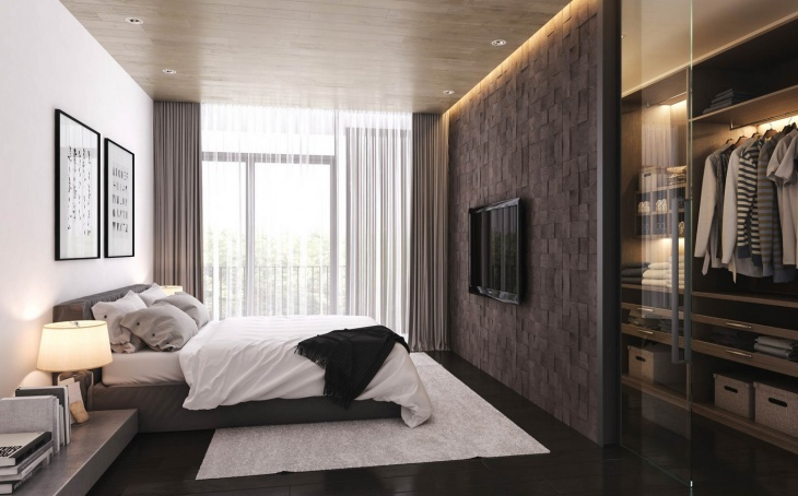 Apartment Bedroom Wall Panelling