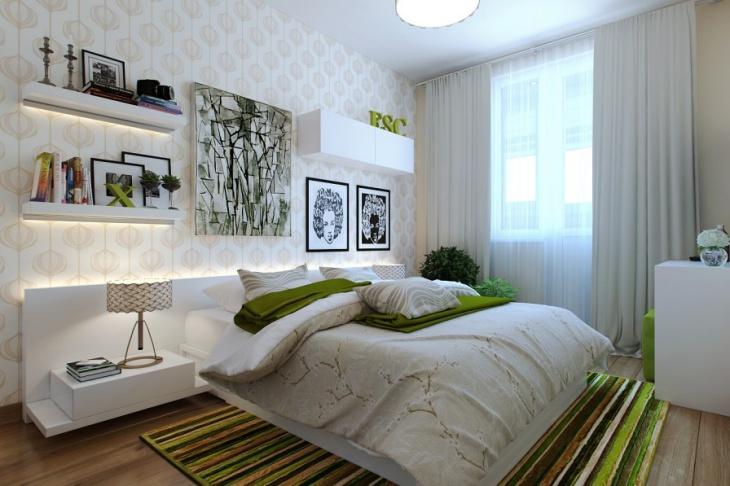 classy apartment bedroom wall design