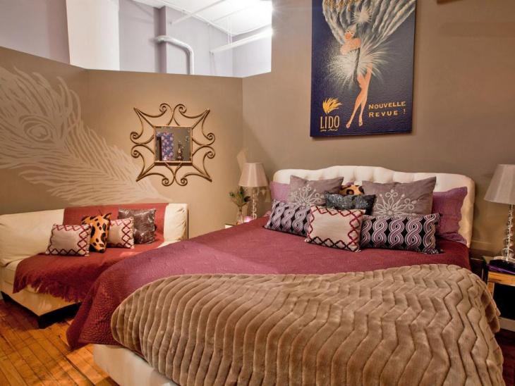 feminine apartment bedroom design