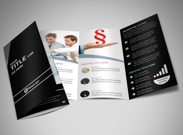 Editable Intellectual Property Firm Tri-Fold Brochure Template