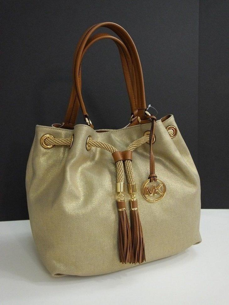 drawstring tote handbag