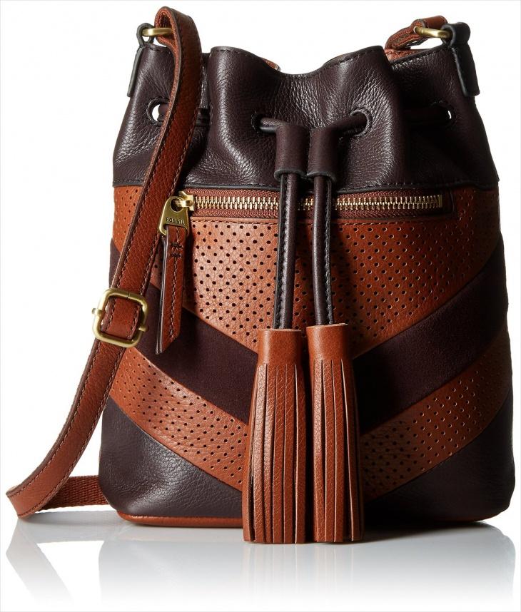 fossil drawstring handbag