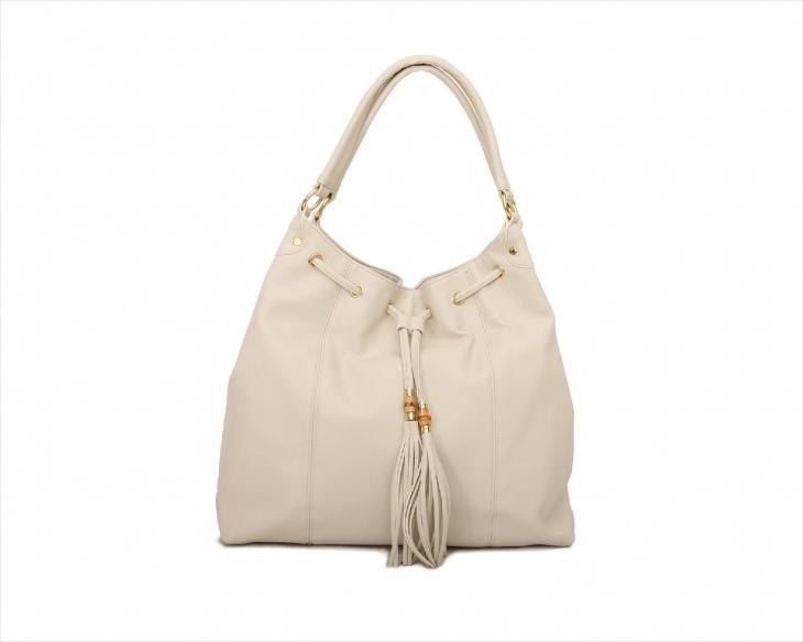 faux drawstring tote handbag