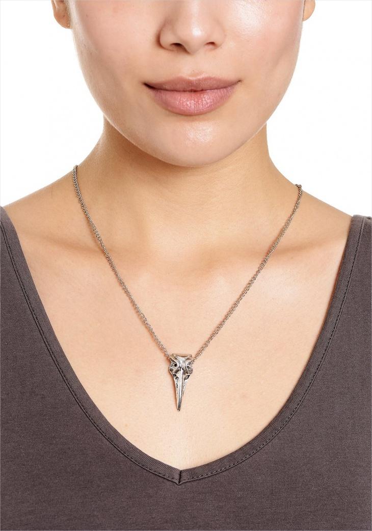 Bird Skull Necklace Design