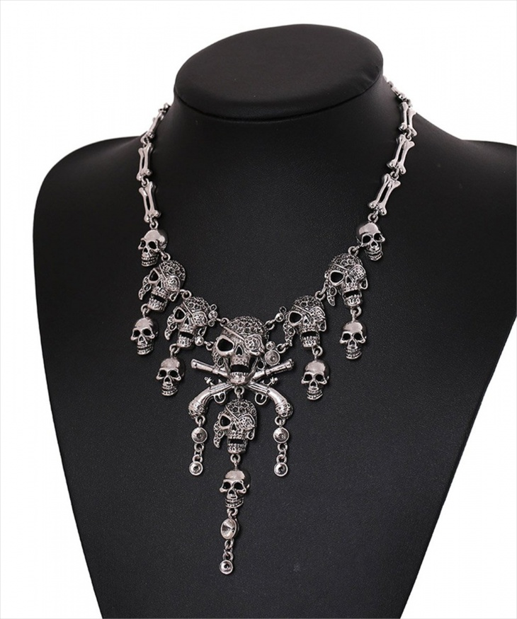 Layered Skull Necklace