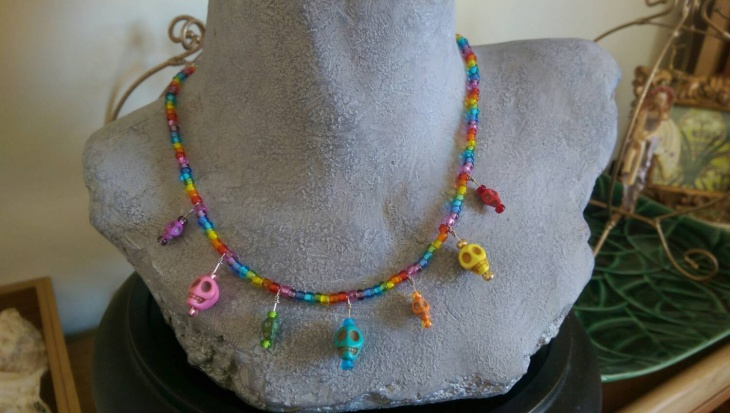 Skull Rainbow Necklace