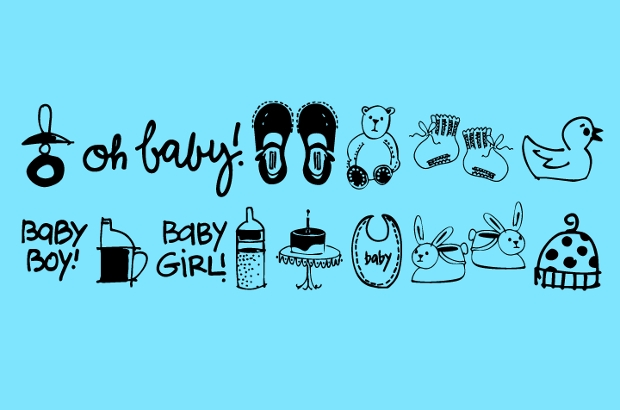 Baby Doodles Font