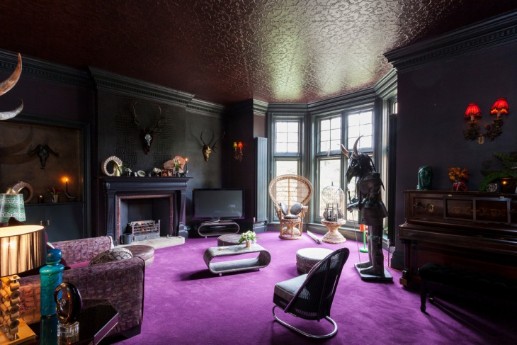 Dark Gothic Living Room Design