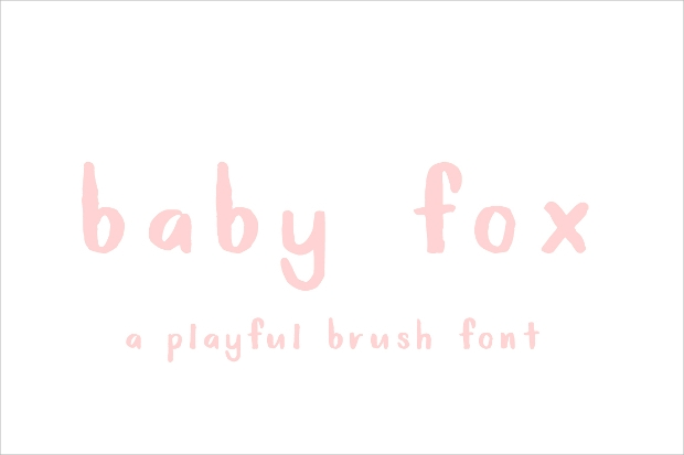 baby fox brush typeface font