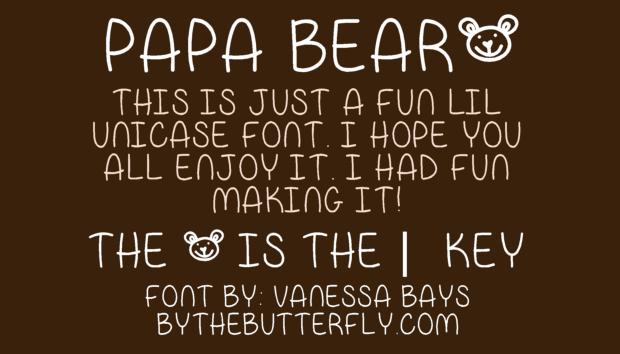 Bear Baby Font