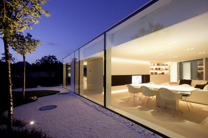 classy home with glass walls