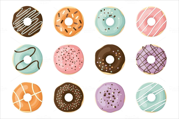Coloful Yummy Donuts Collection