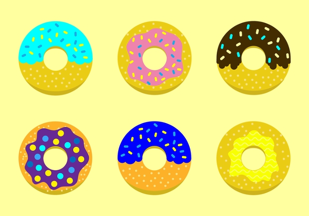 Yellow Donut Vector