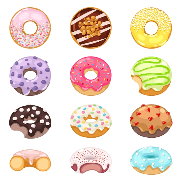 Cute and Sweet Donut Vector
