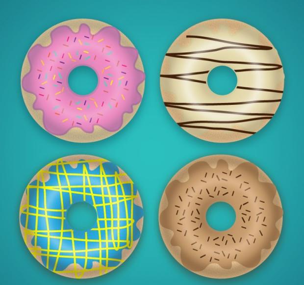 free yummy donut vector