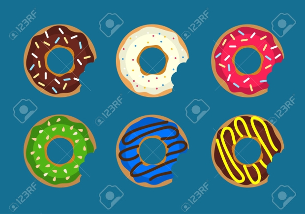 Donut Bite Vector Design