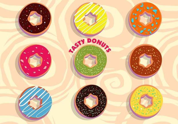 Frosting Tasty Donut Vector