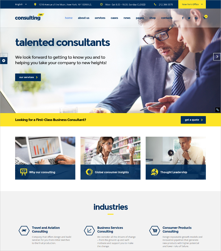 Finance Consulting WordPress Theme