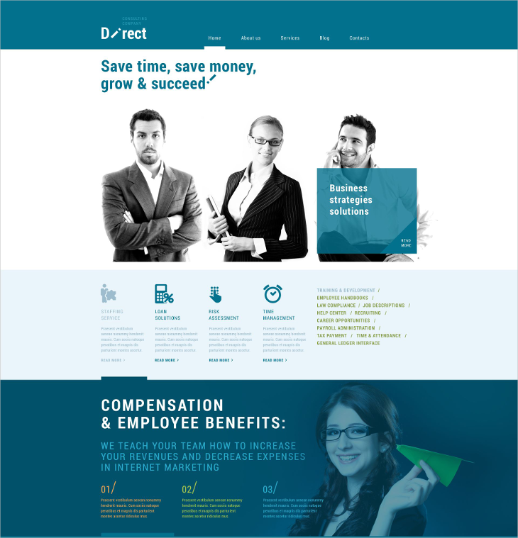 Online Business Agency WordPress Theme