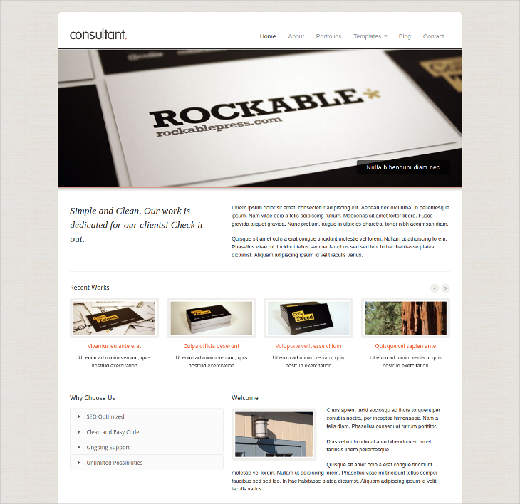 Corporate Business Consultant WordPress Theme