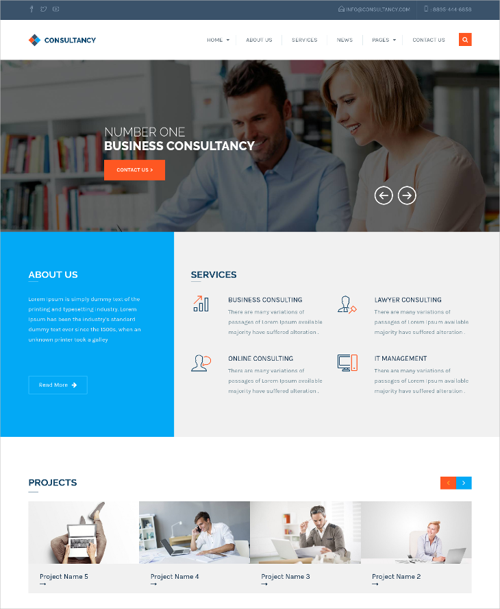 WP Consultancy & Business Theme