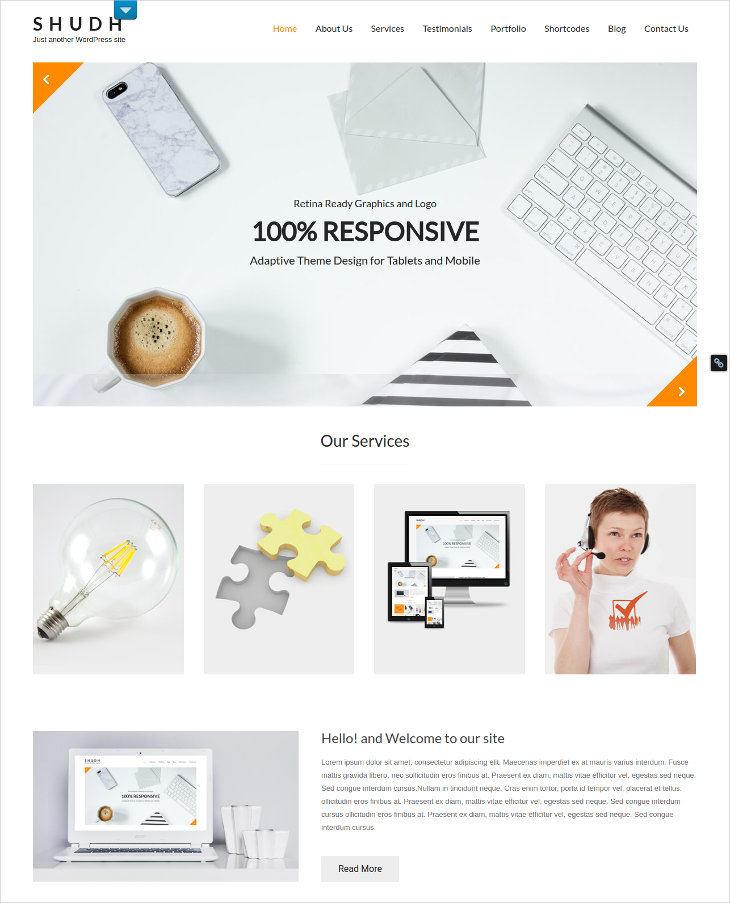 Minimal Consulting WordPress theme