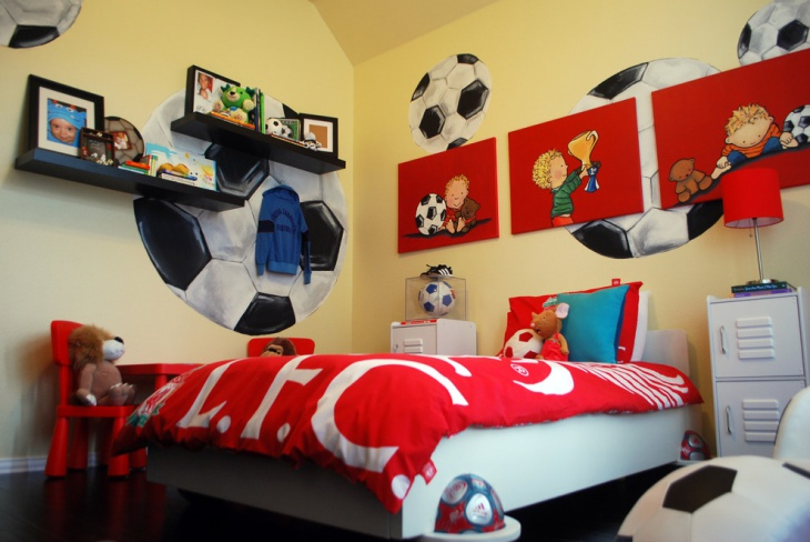 Soccer Room Sports Bedroom Design
