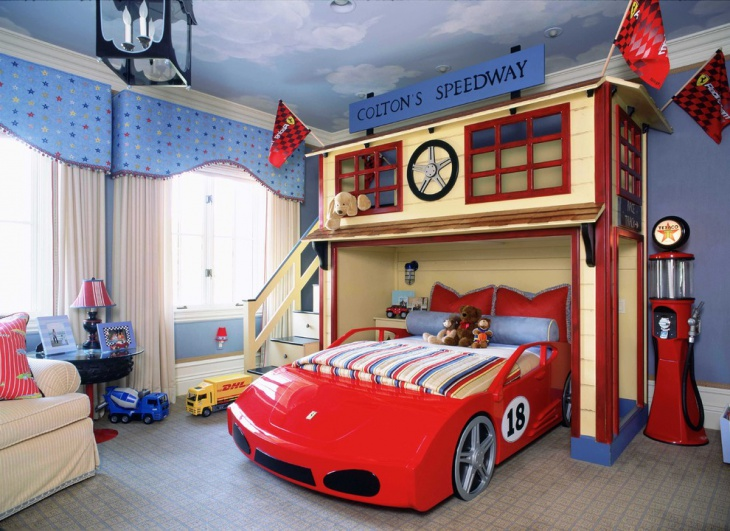Sports Car Bedroom