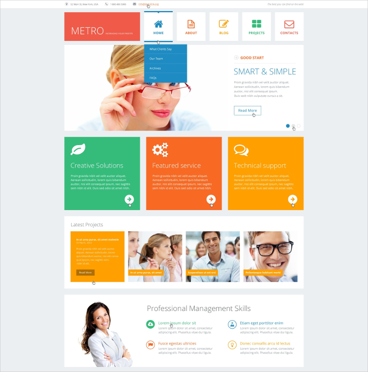 Flat Consulting WordPress Theme