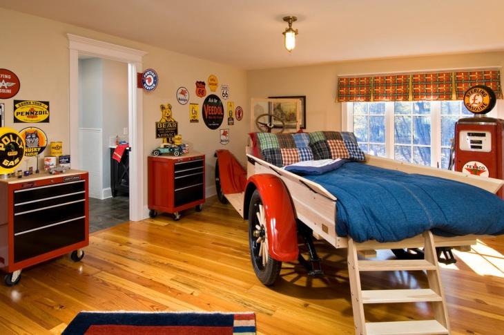 modern sports bedroom