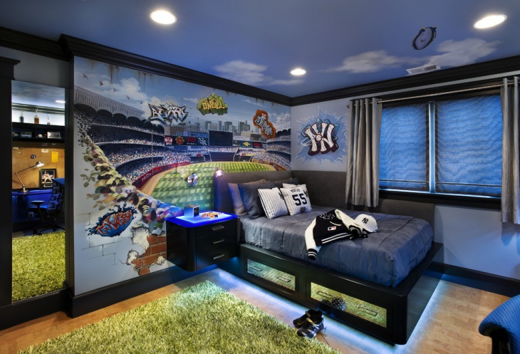 Sports Themed Kid Bedroom