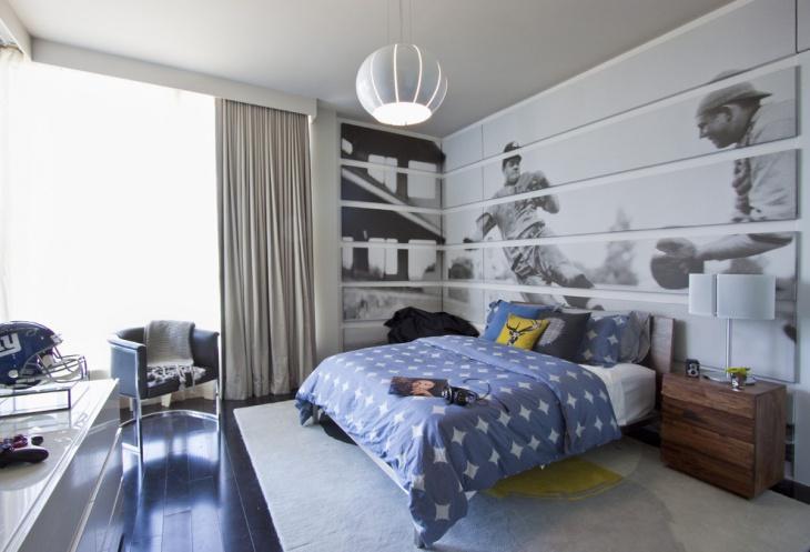 Small Sports Themed Bedroom